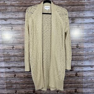 Olive and Oak- Open Front Open Knit Cardigan